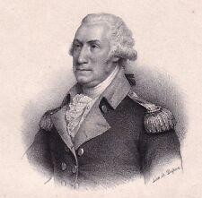 Portrait XIXe George Washington Président des États Unis USA Lithographie 1833