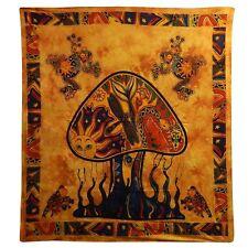 Copriletto matrimoniale copridivano indiano Fungo arancio 230x200cm 100% cotone