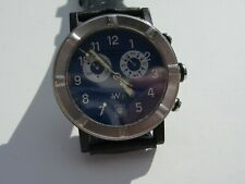 UN-SEX RAYMOND WEIL GENEVE W1 8000 WATCH CHRONOMETER OOP RARE BLUE DIAL