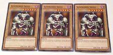 3x YuGiOh New Unlimited Common Summoned Skull DEM1-EN001 from Demo Pack Unused