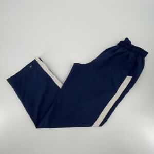 Nike Pants Adult Small Blue White Swoosh Track Pants Causal Mens