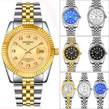 Luxury Crystal Watch Women Man Waterproof Steel Strap Luminous Wrist Watches