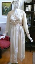 Wonderful 1915 Edwardian Duchess Silk Satin Wedding Dress XS