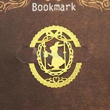 Gold Creative Rabbit Skeleton Metal Clip Bookmark Marker Reading Favor Gift