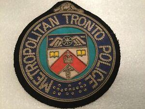 "Metropolitan Toronto Police Dept. Bullion Patch ""Error "" RARE Pre 1998"