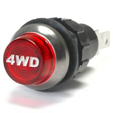 Large Red 4Wd Engraved For Four Wheel Drive Indicator Warning Light