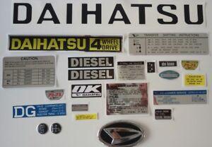 Daihatsu Taft F50/F60 Decals and emblems