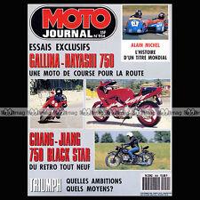 MOTO JOURNAL N°954 TRIUMPH 900 TRIDENT 750 ROADSTER, CHANG JIANG MOTOBECANE 1990