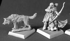 Adowyn Iconic Hunter & Wolf Reaper Miniatures Pathfinder RPG Familiar Ranger