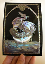 RARE Earth Dragon Foil Printed Postcard (6 X 4.25 Inch) By Peter Pracownik D&D