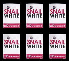 6x Snail white soap gluta glutathione whitening skin face body brightening 70g