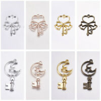 Alloy Pendants Key with Heart Or Moon Skeleton Key Charms DIY Accessories
