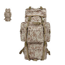 65L Camouflage Travel Camping Hiking Backpacks Combat Military Shoulder Bags