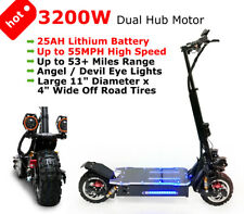 New 3200W Off Road Electric Kick Scooter Ultra High Speed 25Ah Lithium Battery