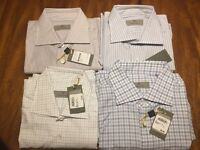 CANALI  LUXURIOUS DRESS SHIRTS - SLIM FIT -16 (EU 41), 16.5 (42) NWT