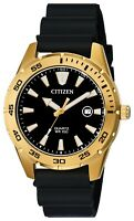 Citizen Men's Quartz Rose Gold Case Calendar Window Black 42mm Watch BI1043-01E