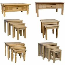 Corona Panama Coffee Nest of 2 3 Tables Mexican Solid Waxed Pine Furniture