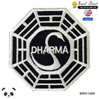 Dharma Symbol Embroidered Iron On Sew On Patch Badge For Clothes etc