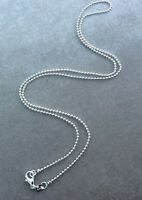 2MM 925 STERLING SILVER  BALL BEAD CHAIN NECKLACE ALL INCH SIZES AVAILABLE UK
