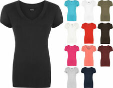 Viscose V Neck Short Sleeve Plus Size T-Shirts for Women