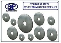 """20MM STAINLESS STEEL REPAIR WASHER PENNY WASHER 5MM (M5 - 3/16"""") HOLE / BORE"""