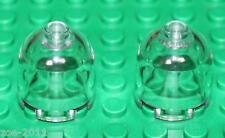 Lego 2x Transparent Clear Brick, Round 2x2x1 Dome Top NEW!
