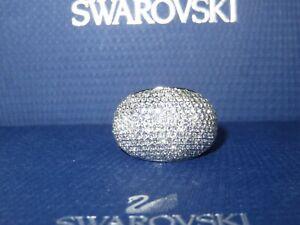 "GENUINE Swan Signed SWAROVSKI ""Stone"" Ring - Size 58 -  #1156315"