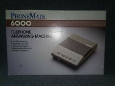 Vintage Phone Mate 6000 Telephone Answering Machine W/Box & Manual
