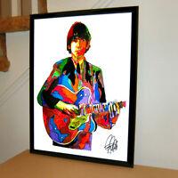Beach Git Digital Photo Wall Art Music POSTER Print Sun Beach Surf Rock Guitar