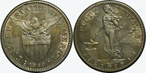 1919-S US/Philippines 50 Centavos ~ XF Details ~ 75% Silver ~ A#14.08 ~ MX126