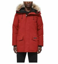 Canada Goose Red Maple Langford Men's Down Parka Coat Coyote Fur Trim Size XL