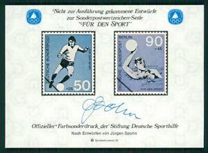 GERMANY SOUVENIR SHEET 1980 FOOTBALL SOCCER WATER POLO SPECIMEN PROOFS fa39