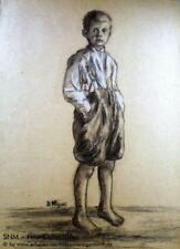 Künstlerische Porträts & Personen Kohle Malereien von 1900-1949