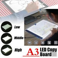 A3 LED Lichttisch Leuchttisch Leuchttablet dimmbar Grafiktablett 3 Stufen SUPER