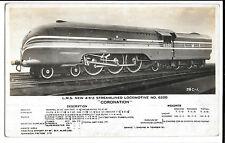 "LMS New 4-6-2 Streamlined Locomotive no 6220 ""Coronation"" RP PPC, Unposted"