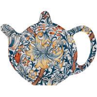 Golden Lily Floral Melamine Teabag Tidy Tea Bag Coaster Holder Tray Kitchen Tool