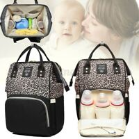 LEQUEEN Baby Diaper Bag Mummy Maternity Nappy Travel Handbag Backpack Large  ~