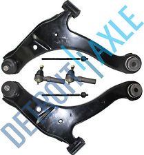 6pc: New 2 Front Lower Control Arm Assembly + 4 Tie Rod Ends for Dodge Neon