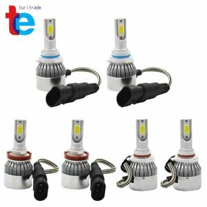 6x Combo 9005 + H11 + 9006 3900W 585000LM  LED Headlight Kit Hi Low Bulbs 6000K