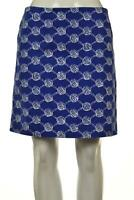 Lilly Pulitzer Womens Skirt Size 2 Blue White Printed Straight Above Knee Cotton