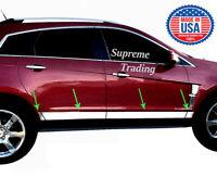 "Cadillac SRX 2010-2016 Chrome Stainless 8 Pce 3-3/4"" Wide Rocker Panels Trim Kit"