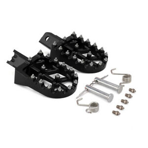 Black CNC Wide Foot Pegs Rests Pedals For CRF XR 50 70 110 pit bike Motorcycle