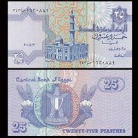Egypt 25 Piastres,1995-2007, P-57, UNC,Arabic Banknote