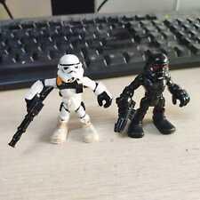 Lot of 2pcs Playskool Star Wars Galactic Heroes Sand Trooper  & Death Trooper