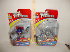 TRANSFORMERS FAB FAST ACTION BATTLERS OPTIMUS PRIME & MEGATRON LOT OF 2 NEW