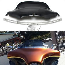 """8"""" Slotted Stock Batwing trim + Windshield Windscreen for Harley Touring 96-2013"""