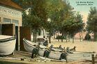 1900s Postcard U.S. Life Saving Station with Boat and Crew, Macatawa, Michigan