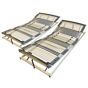 7-Zonen Lattenrost 160x200 cm verstellbar - Bettrost 160 x 200 mit 44 Leisten