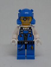 Lego Power Miner - Brains -blau - Minenarbeiter 2 Gesichter Figuren Figur Neu