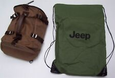 Chrysler Jeep Canvass Back Pack Brown Branded Travel Bag 6001099266